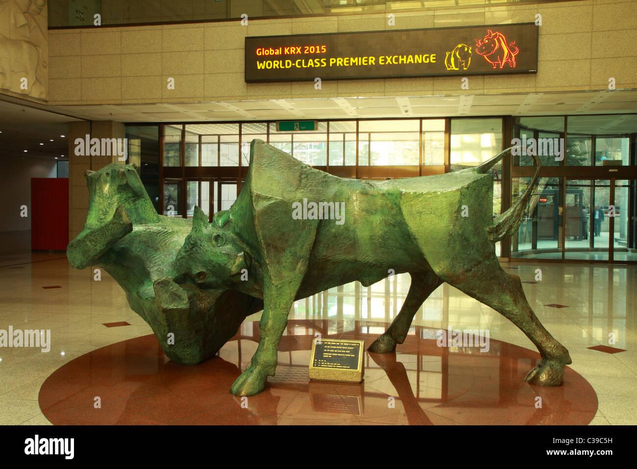 Korea Stock Exchange Stock Photo