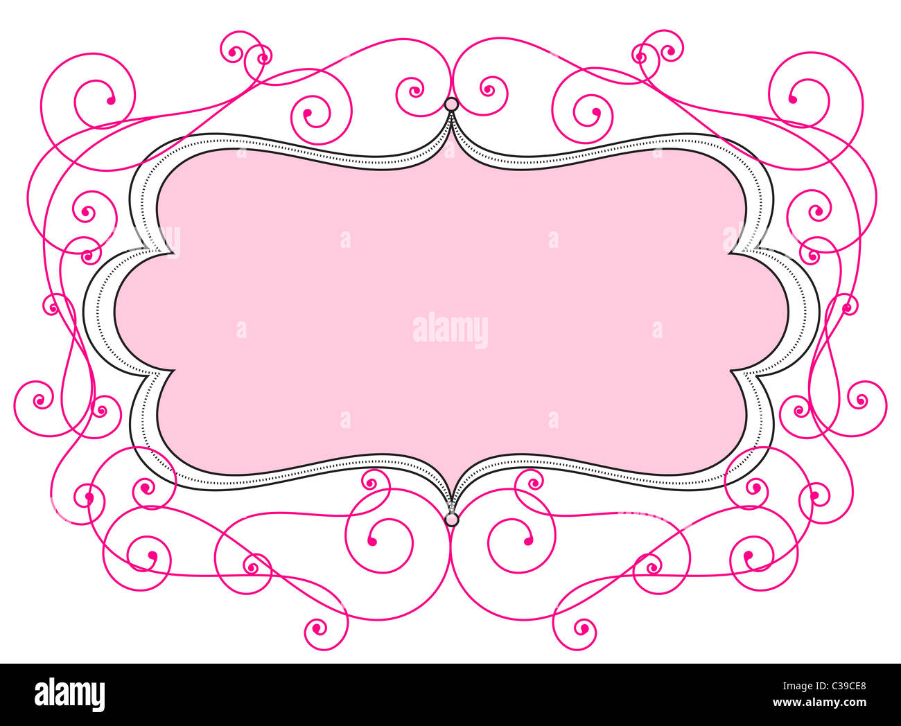 Old Wedding Greeting Letter Paper Pale Pastel Pink Stock Photos
