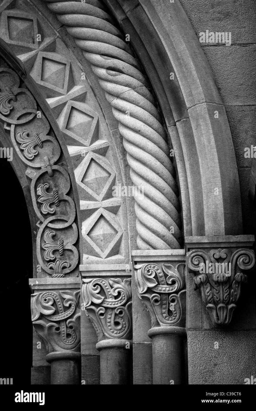 Architectural detail from the Smithsonian Castle on the National Mall in Washington, DC - Stock Image