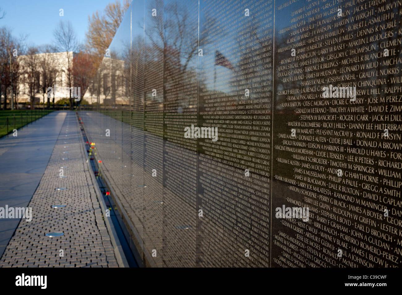 The Vietnam Veterans Memorial in Washington, DC - Stock Image
