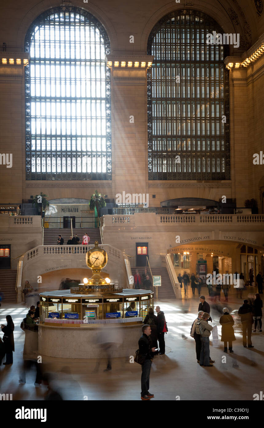 The Main Concourse in New York City's Grand Central Terminal - Stock Image