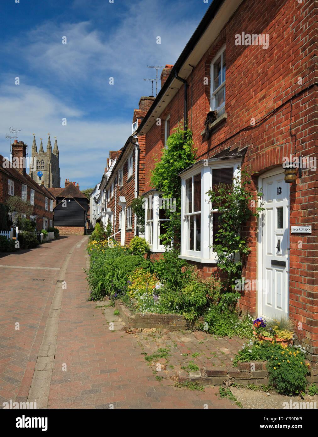 Quaint old street in Tenterden. - Stock Image