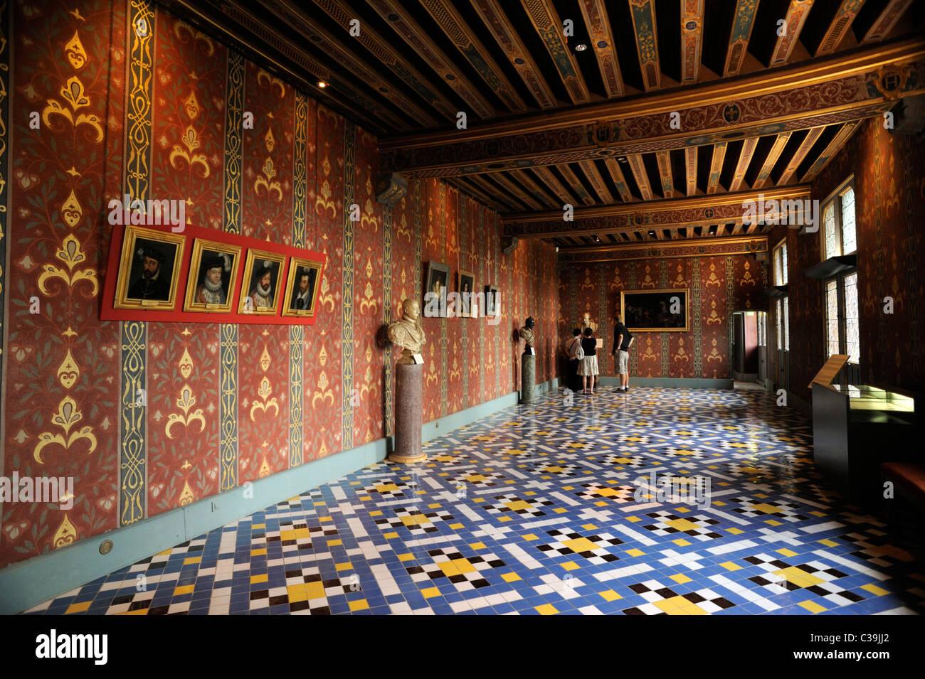 france, loire valley, blois, castle interior - Stock Image