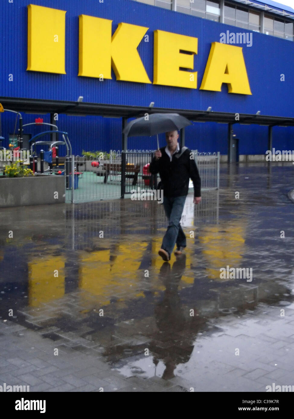 Exterior of an Ikea store. - Stock Image