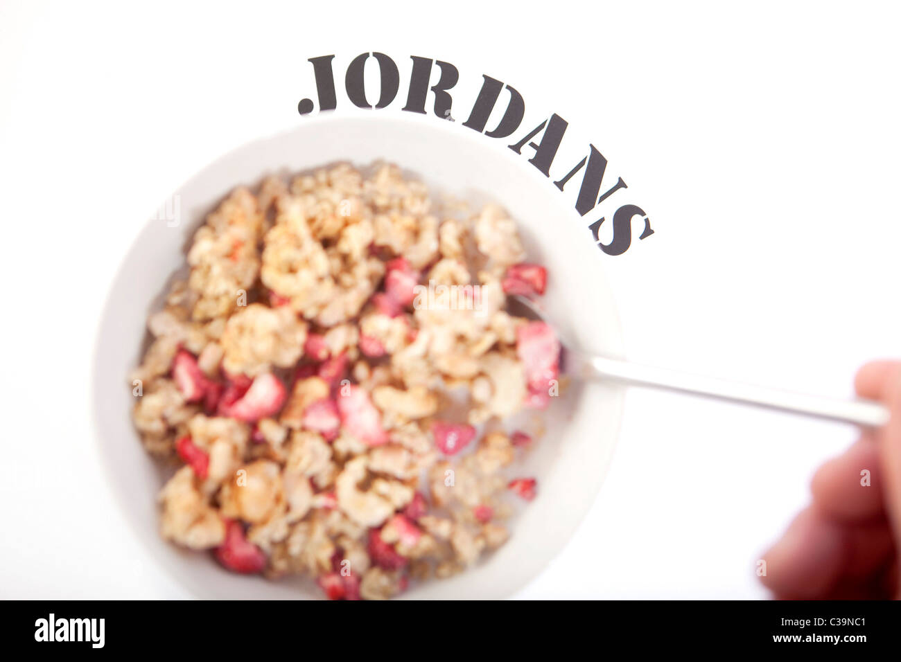 Illustrative image of Jordans Country Crisp cereal, a brand operated by Associated British Foods. - Stock Image
