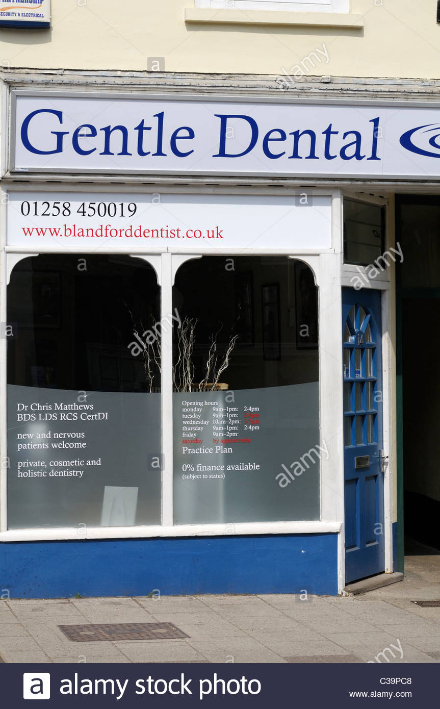Gentle Dental, Dental practice, Blandford Forum, Dorset England - Stock Image