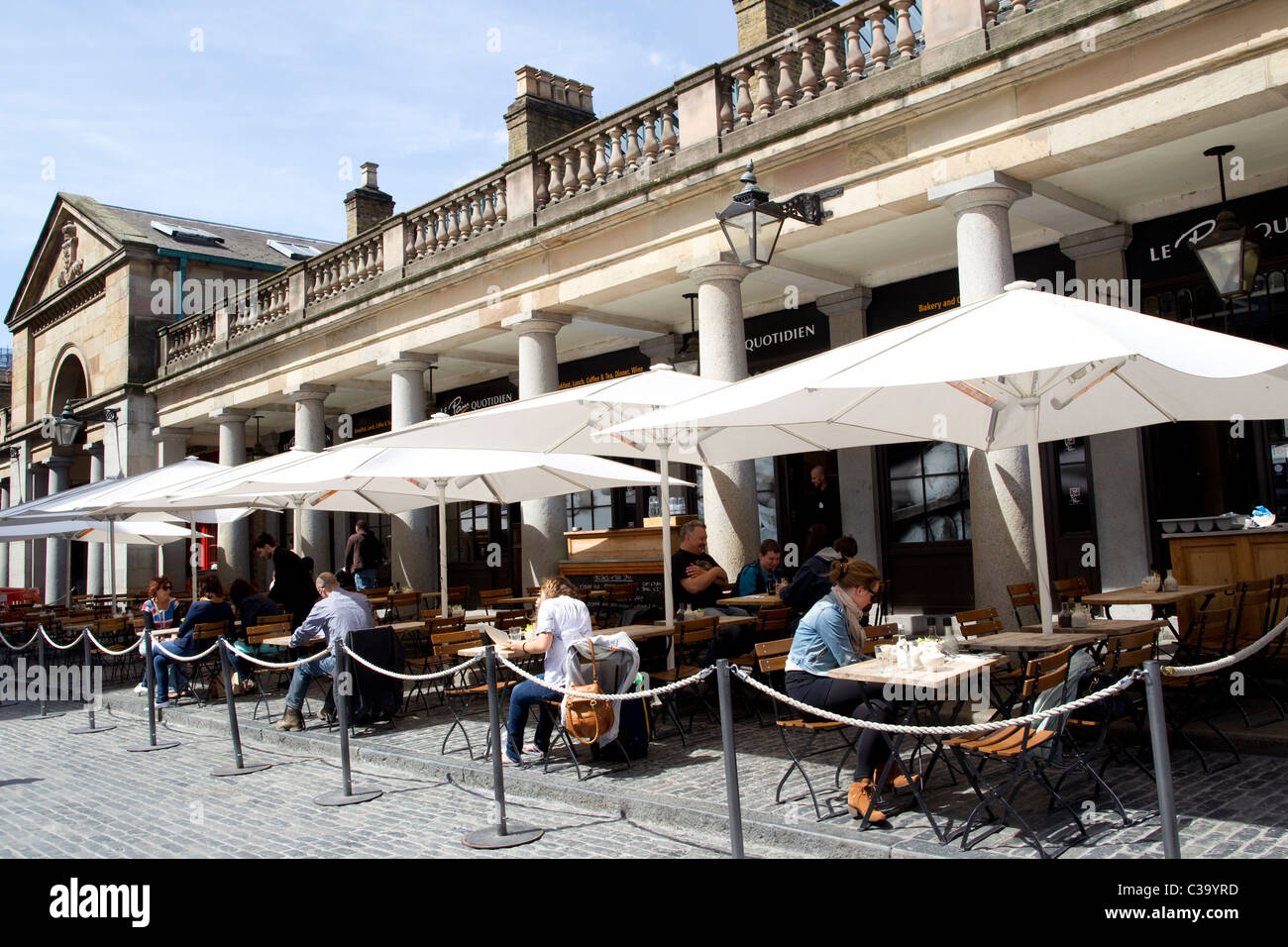 Covent Garden market, West End tourist site associated with Royal Opera House, and former area of fruit and vegetable - Stock Image
