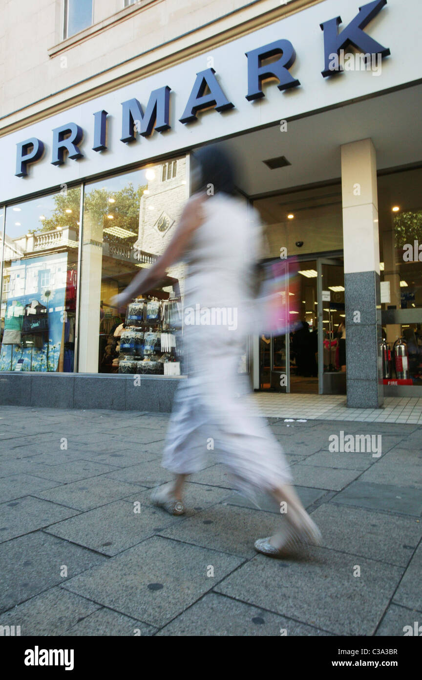 Exterior of a Primark store; an Associated British Foods brand. - Stock Image