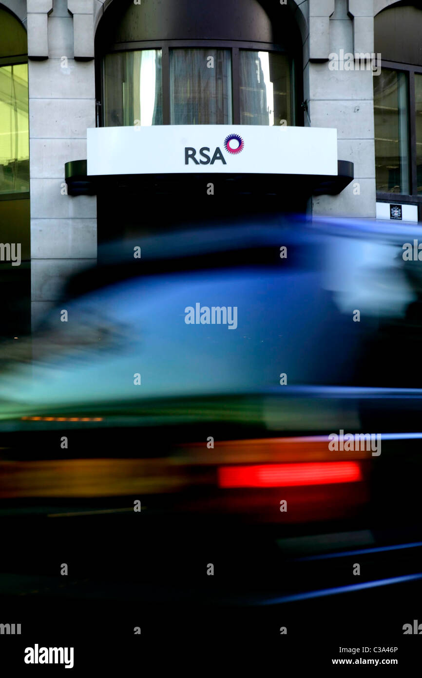 The RSA office in Central London. - Stock Image