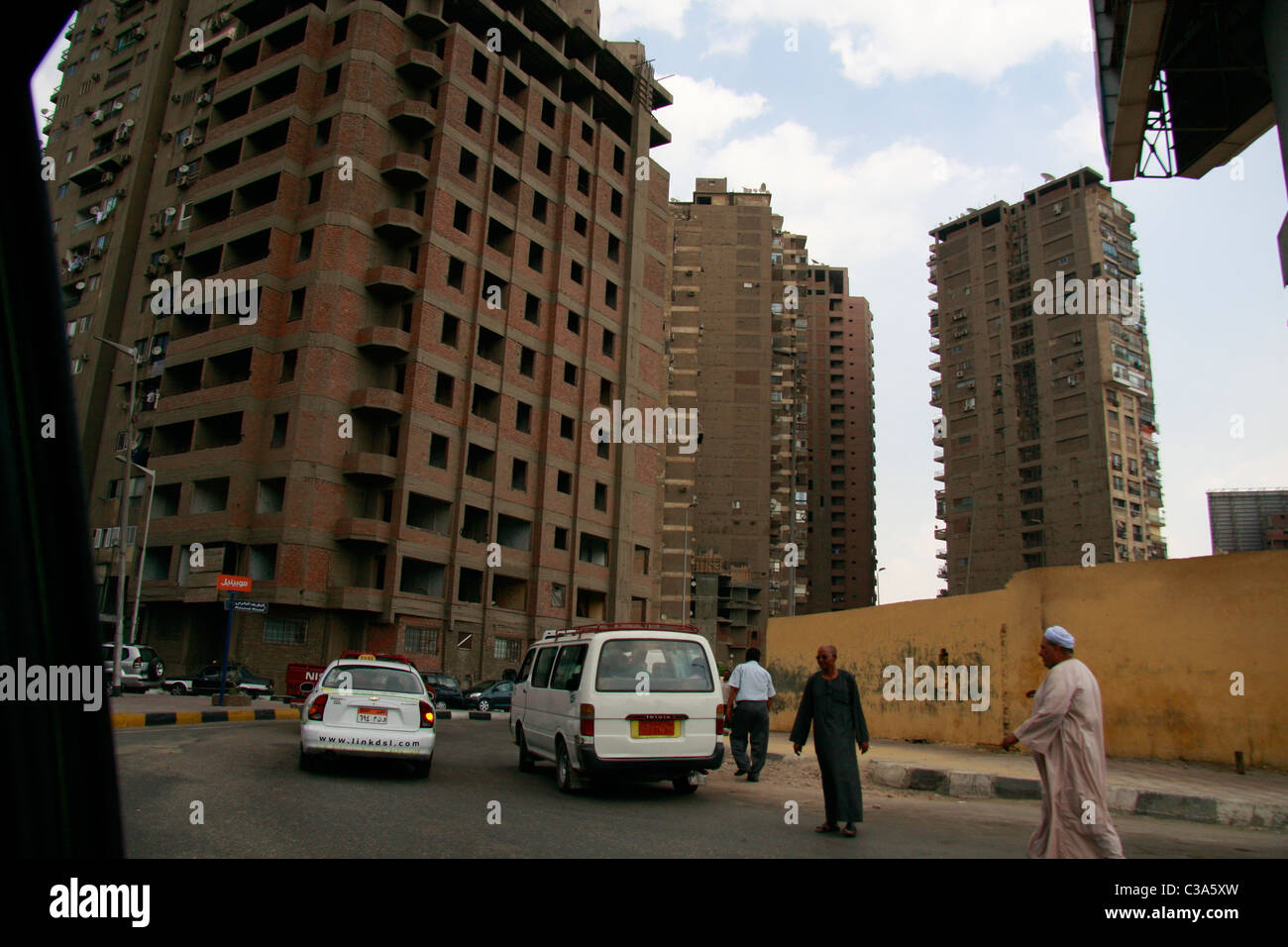 Cairo's residential apartment buildings. Stock Photo