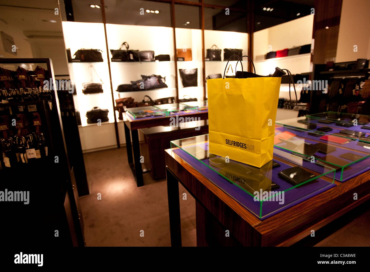 The mens accessories department store in Selfridges. - Stock Image