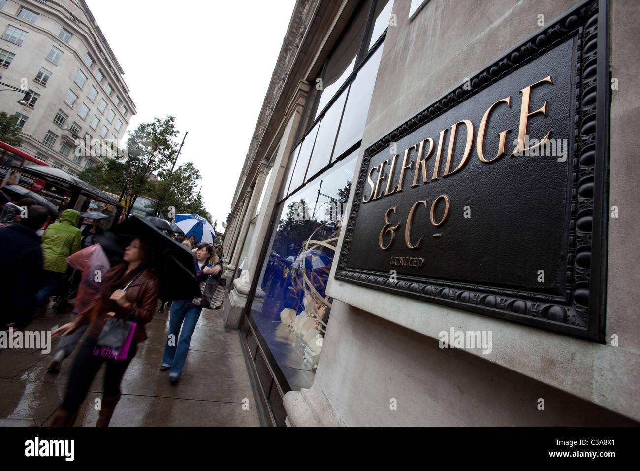 External shot of the flagship Selfridges store in London. - Stock Image