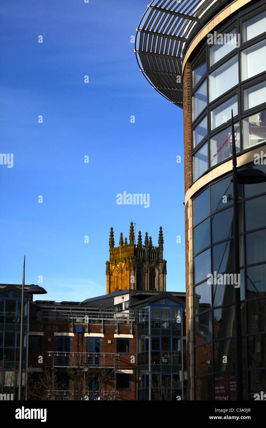 A combination of workplace, living space and older spiritual refreshment in Leeds City, West Yorkshire - Stock Image
