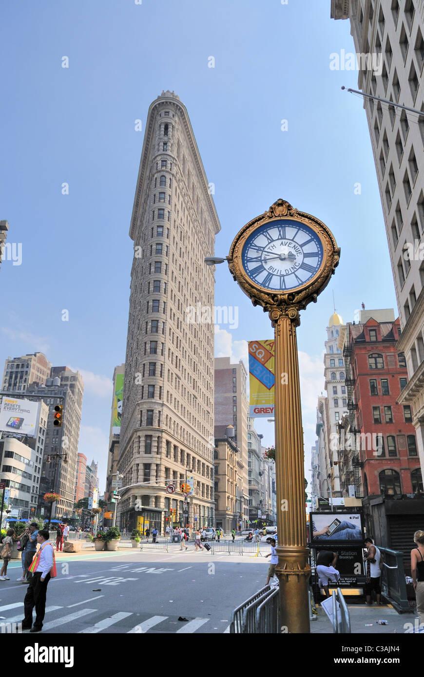 flatiron district in new york city june 27, 2010. - Stock Image