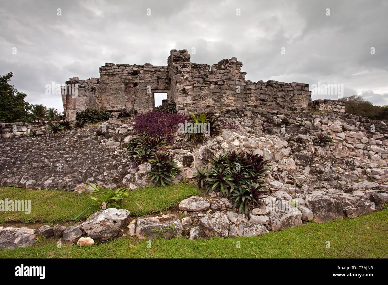 Tulum: Maya Ruins Stock Photo