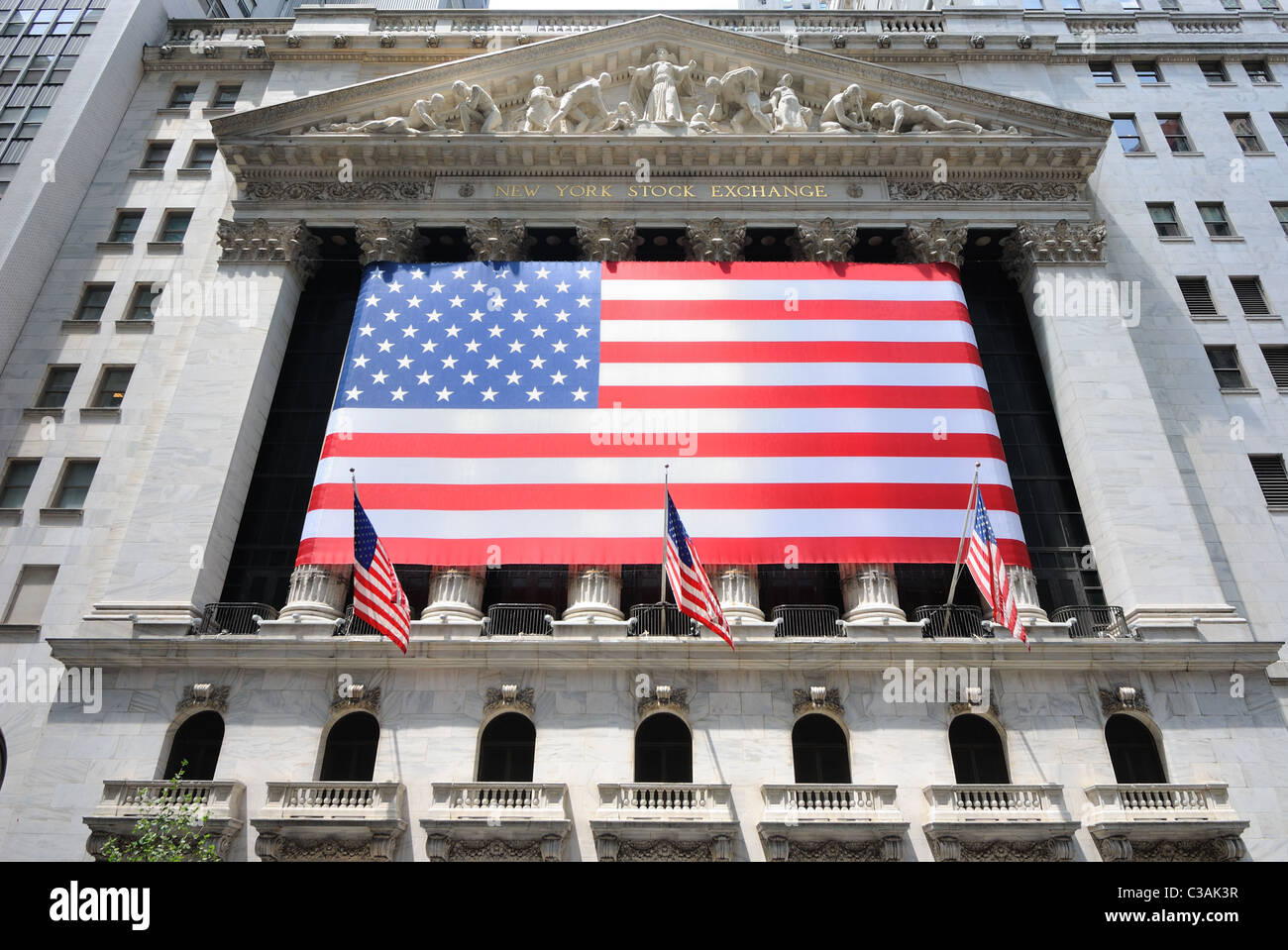Building of the New York Stock Exchange in Lower Manhattan. - Stock Image