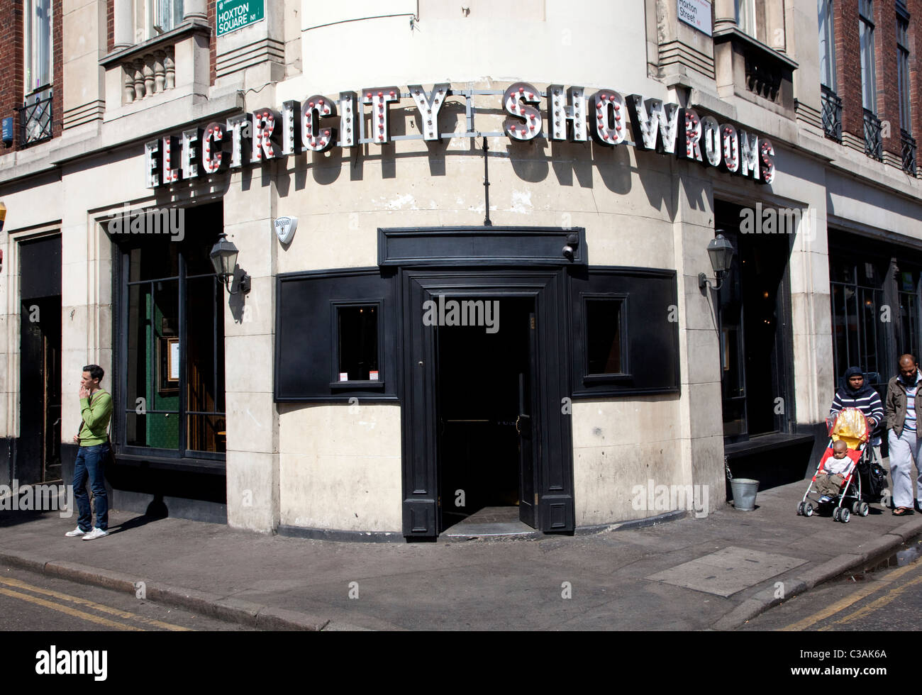 Electricity Showrooms restaurant & bar, Hoxton Square, London - Stock Image