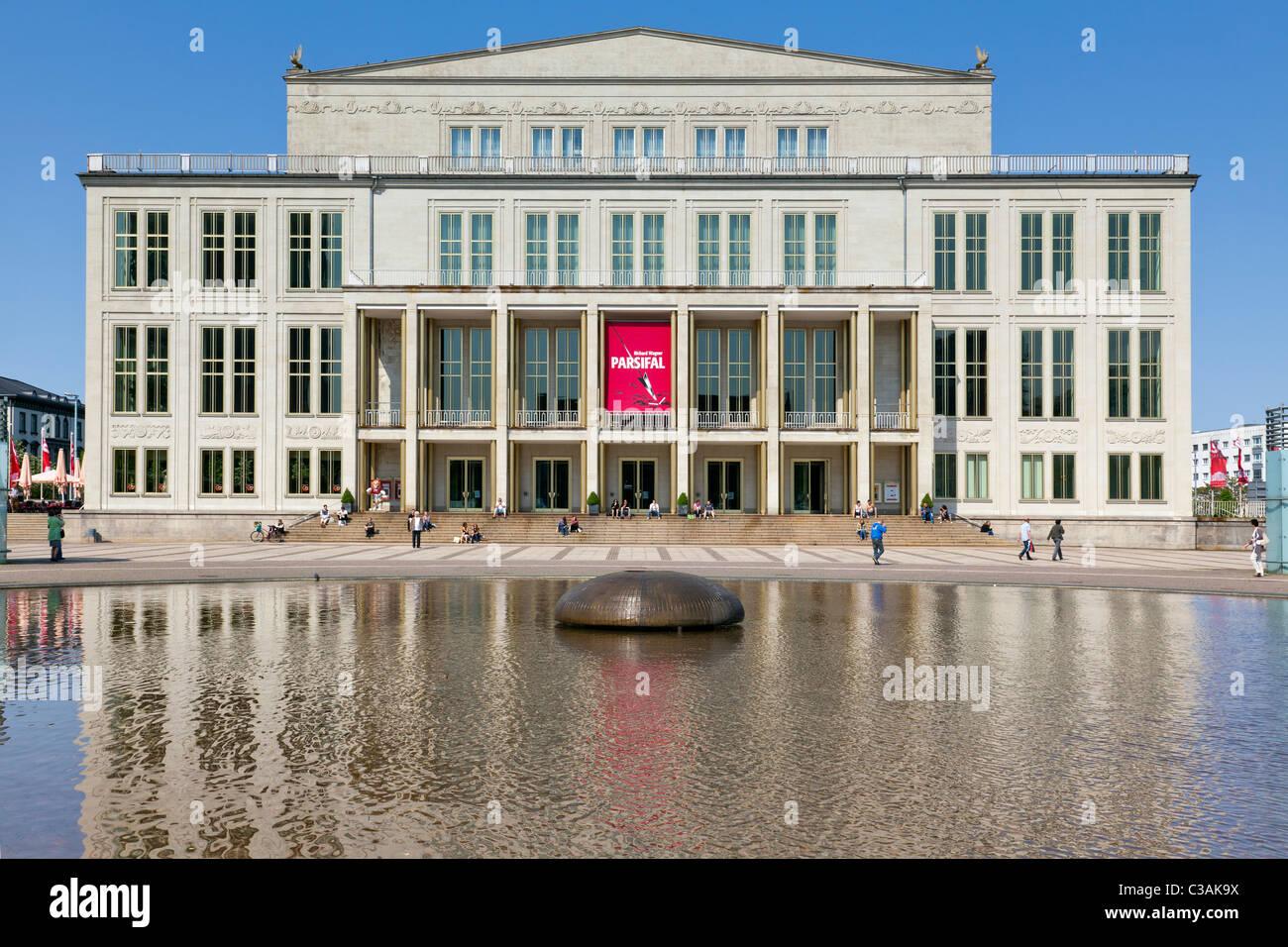 Opera House Leipzig Saxony Germany Stock Photo Alamy
