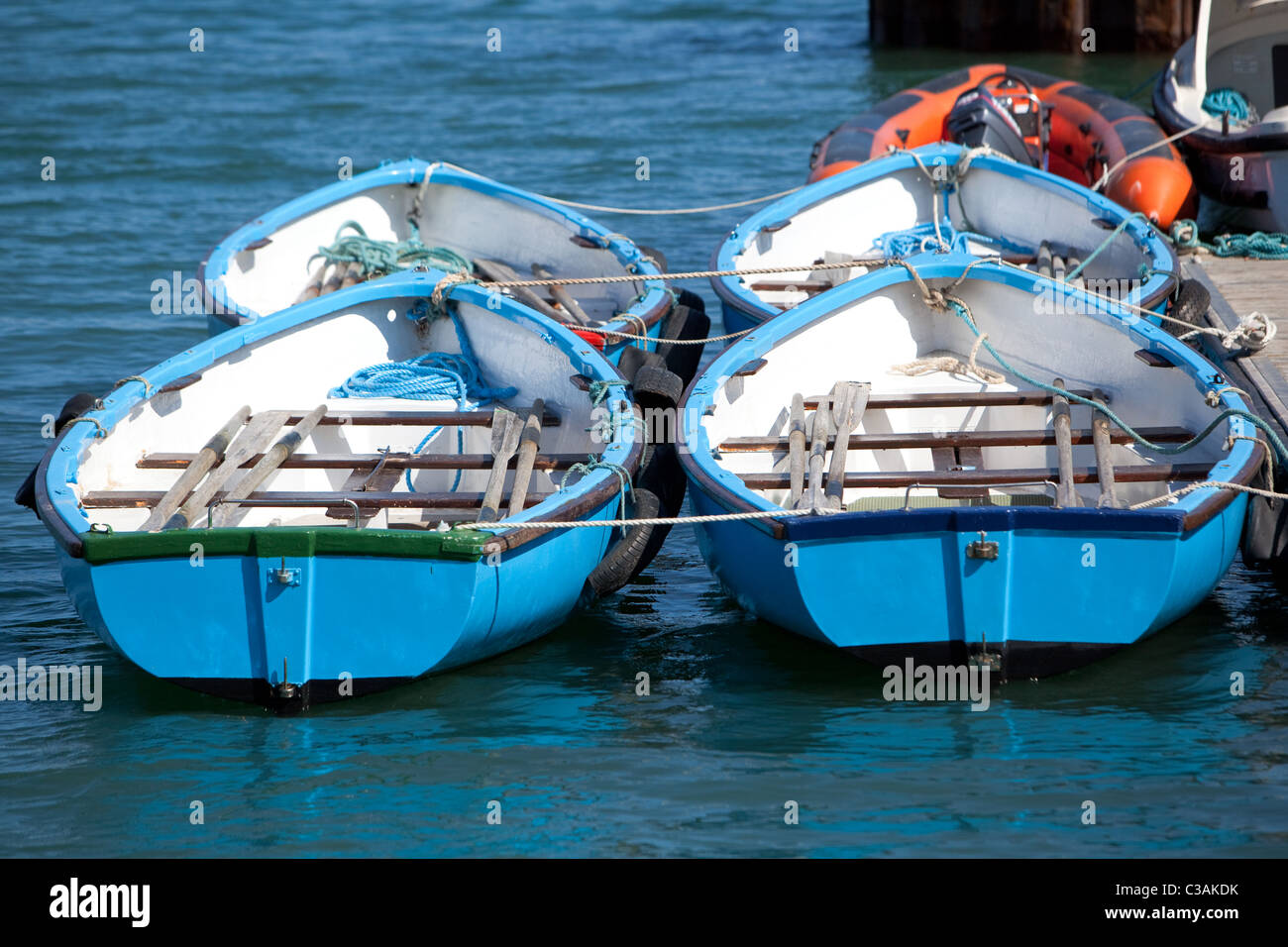 Rowing Boats Stonehaven Harbour Grampian Scotland UK Stock Photo