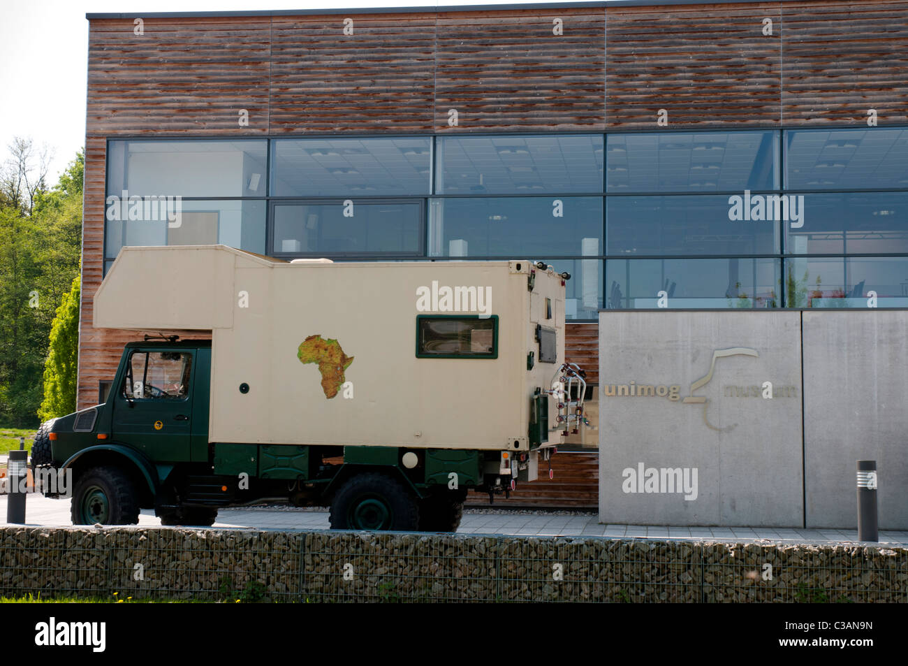 Worldwide unique Unimog museum, Rotenfels, Gaggenau, Black Forest, Baden-Wuerttemberg, Germany - Stock Image