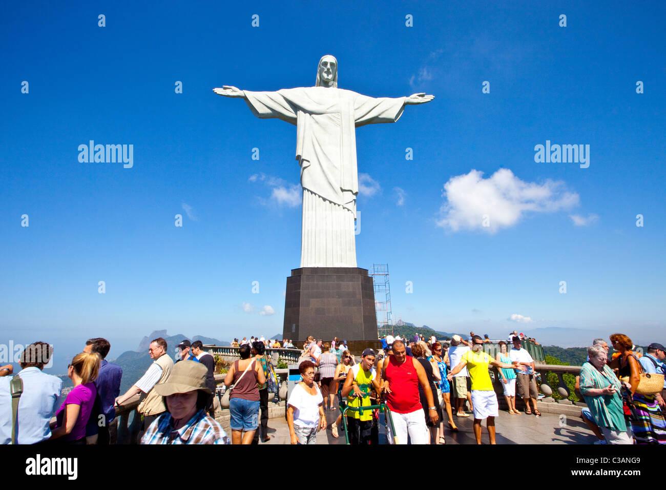Corcovado, Rio de Janeiro, Brazil - Stock Image