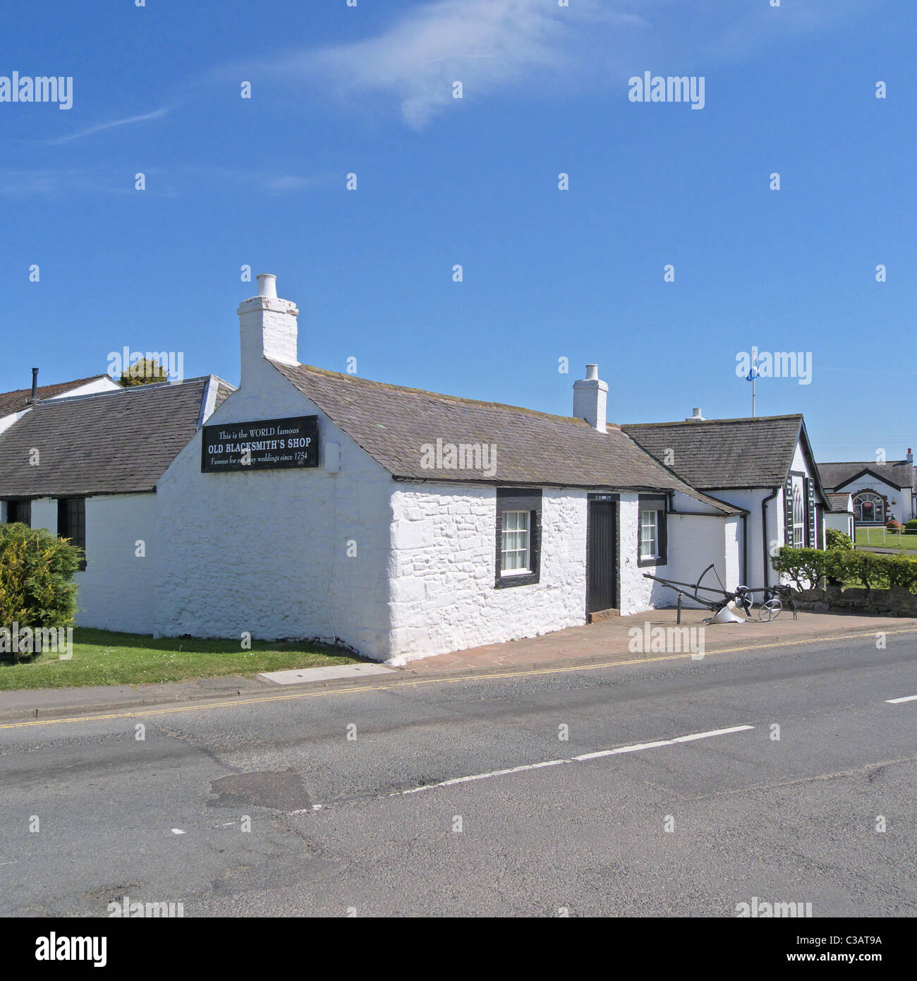The Old Blacksmiths Shop at Gretna Green, Dumfries and Galloway, Scotland, UK - Stock Image