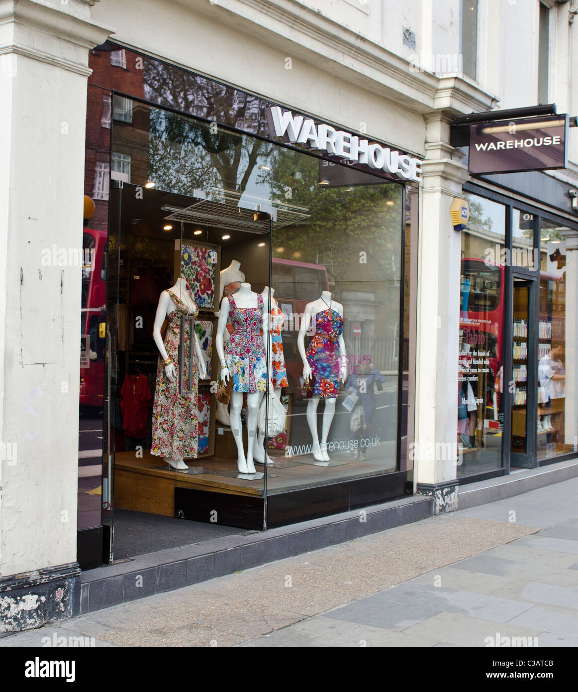 Warehouse retail womens fashion clothes store  King's Road Chelsea London Uk Kate Middleton seen buying clothes - Stock Image