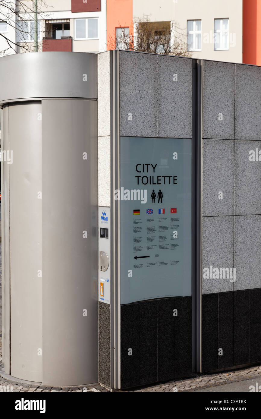 Berlin, the City Toilette, Kurfuerstendamm, EU/DE/DEU/ Germany/ Capitol Berlin. No third party rights available - Stock Image
