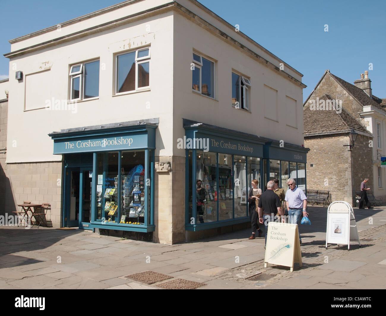 The Corsham Book Shop, Independant Bookshop, Wiltshire, England Stock Photo