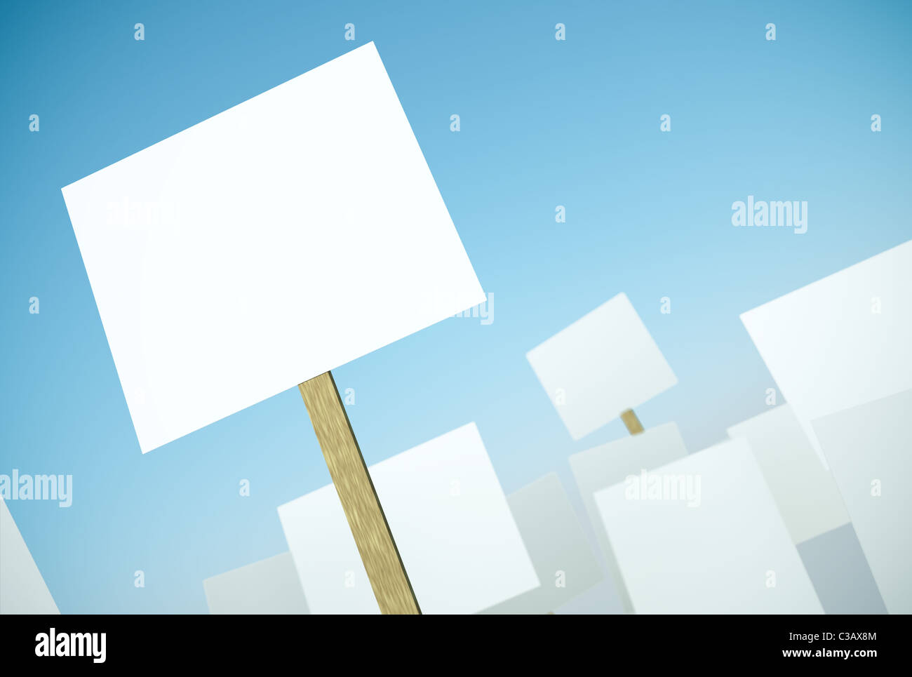 Protest banners - Stock Image