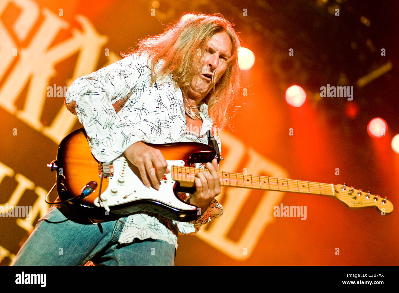 Mark Matejka of Lynyrd Skynyrd perform live at the Glasgow Clyde Auditorium, as part of their 'God & Guns' World Stock Photo
