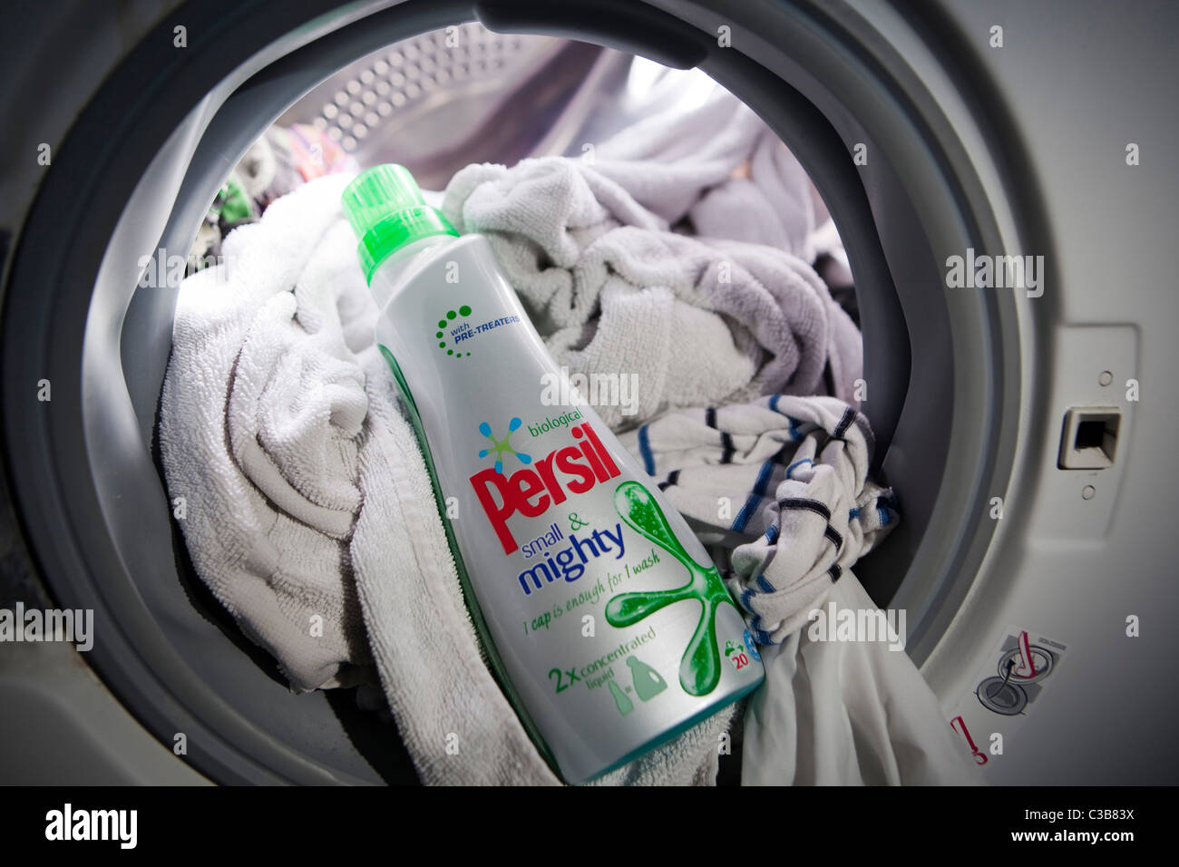 Illustrative image of a bottle of Persil small and mighty. A Unilever brand. - Stock Image