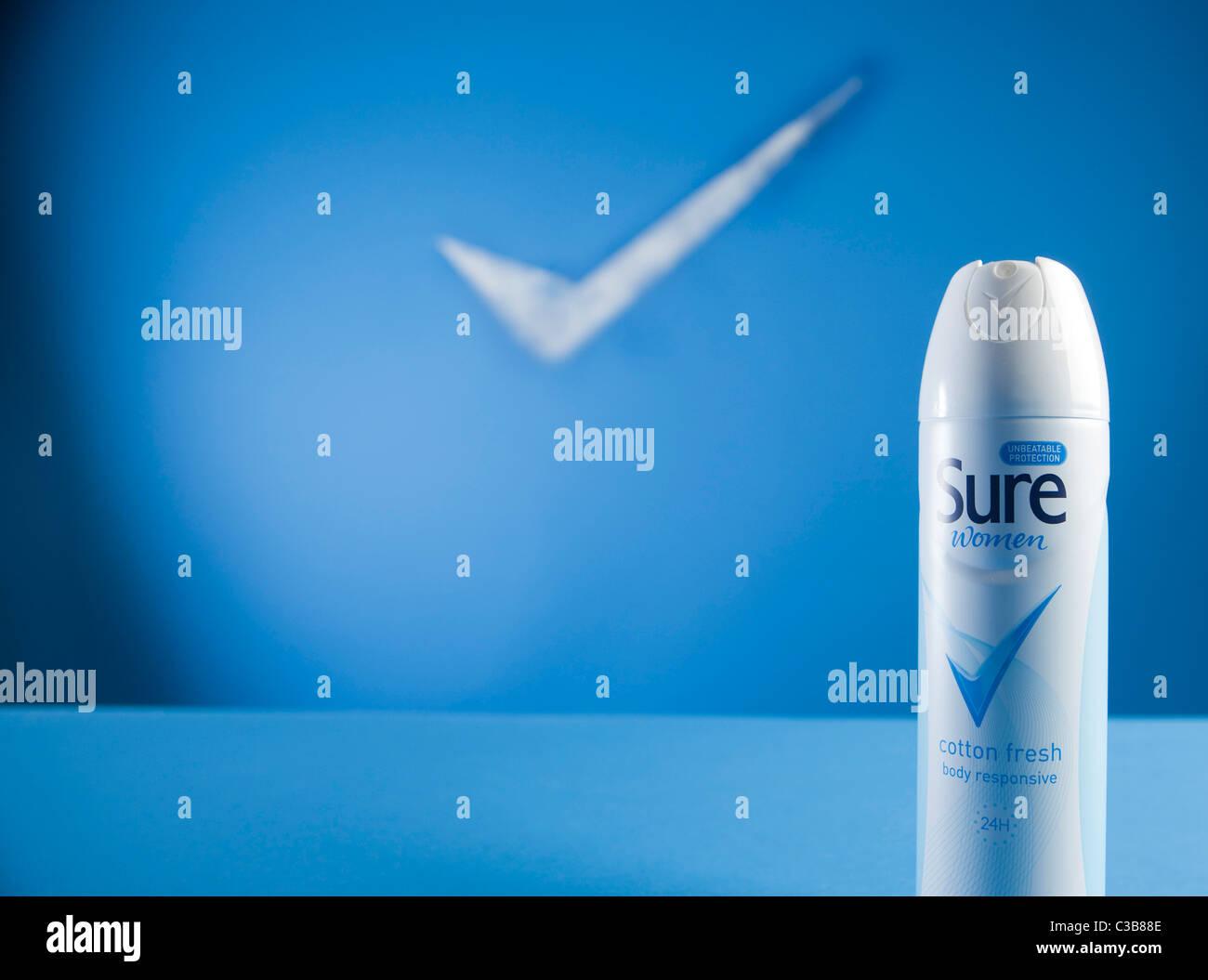 Illustrative image of Sure Women deodorant. A Unilever brand. - Stock Image