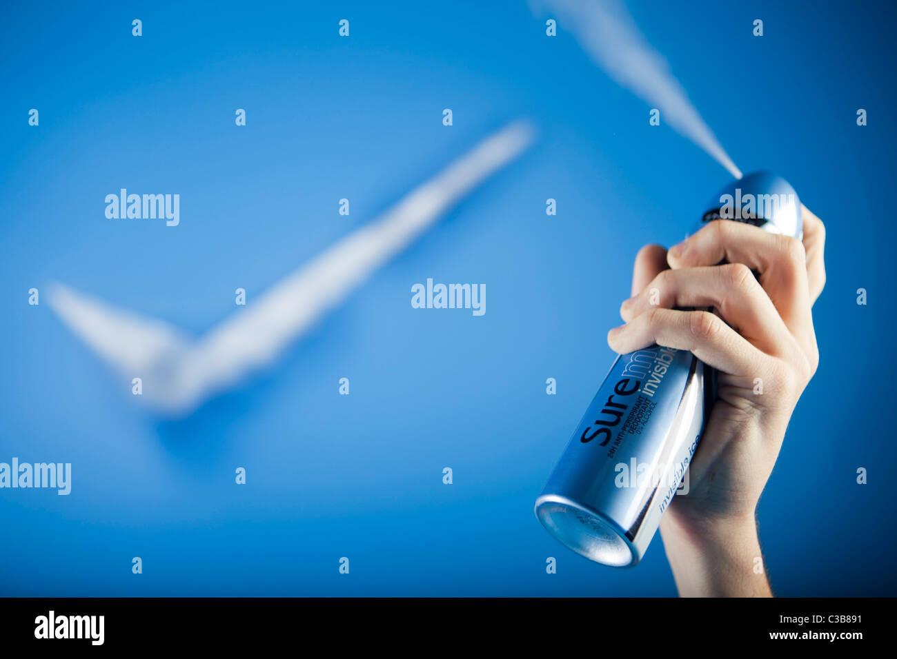 Illustrative image of Sure for Men Invisible deodorant. A Unilever brand. - Stock Image