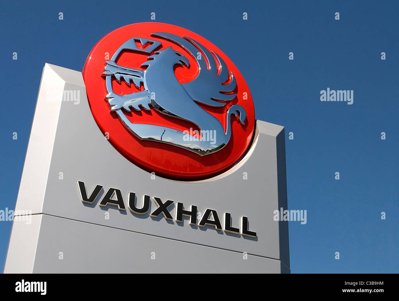 Illustrative image of Vauxhall cars, part of the General Motors group. - Stock Image