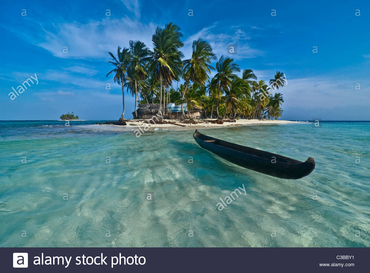 Tropical islands in the Caribbean - Stock Image