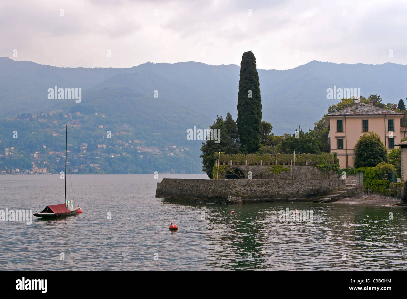 The villa Oleandra of George Clooney in Laglio, Italy Stock Photo
