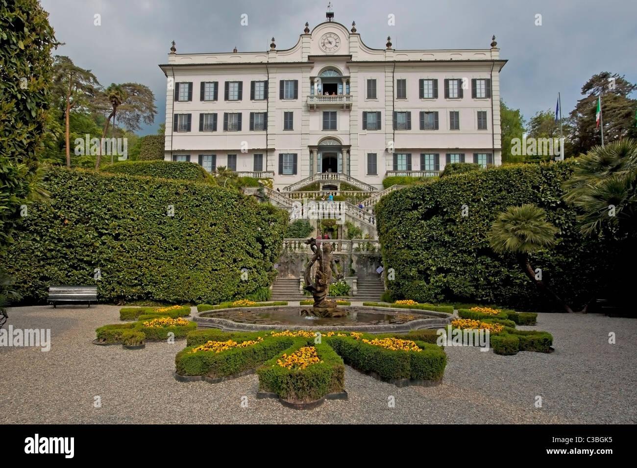 Villa Carlotta und der berühmte botanische Garten - Stock Image