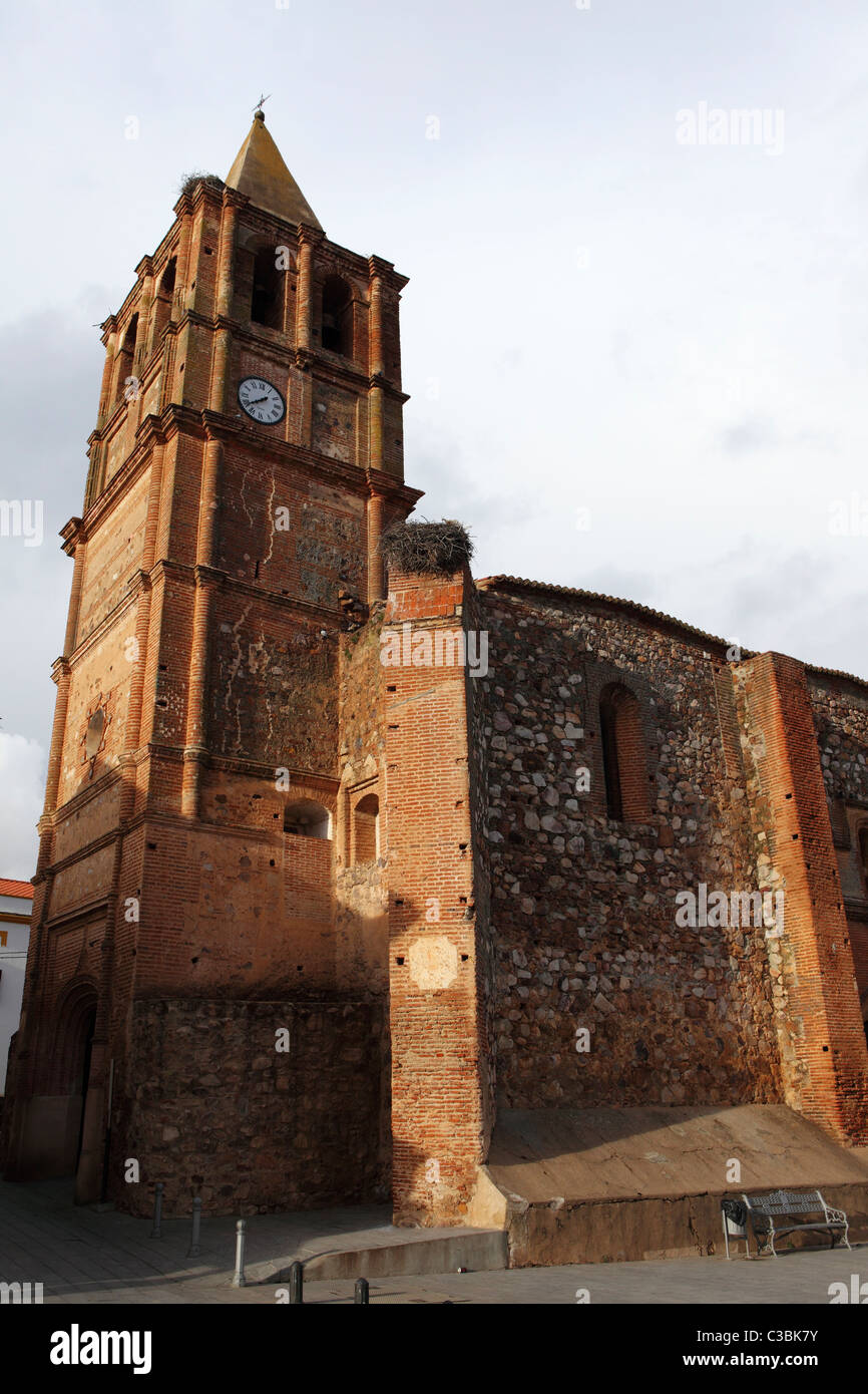The Church of Our Lady of Miracles (Iglesa Nuestra Senhora de los Milagros) at Balneario Alange in Spain. Stock Photo