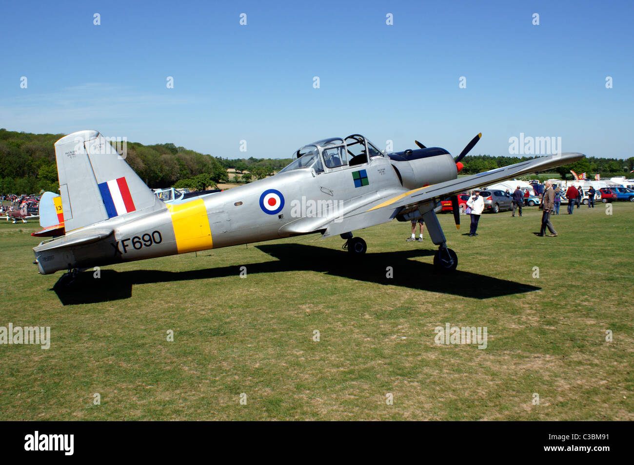 PERCIVAL P56 PISTON PROVOST T.1.  TWO SEAT SIDE BY SIDE TRAINER R.A.F. 550 HP LEONIDES 9 CYLINDER, RADIAL, ENGINE. - Stock Image