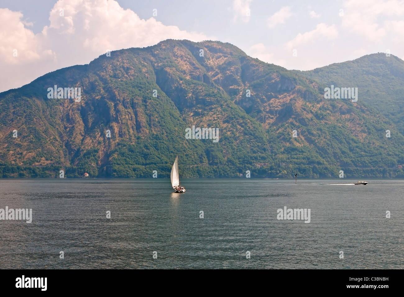 Blick auf den Lago di Como von Lenno - Stock Image