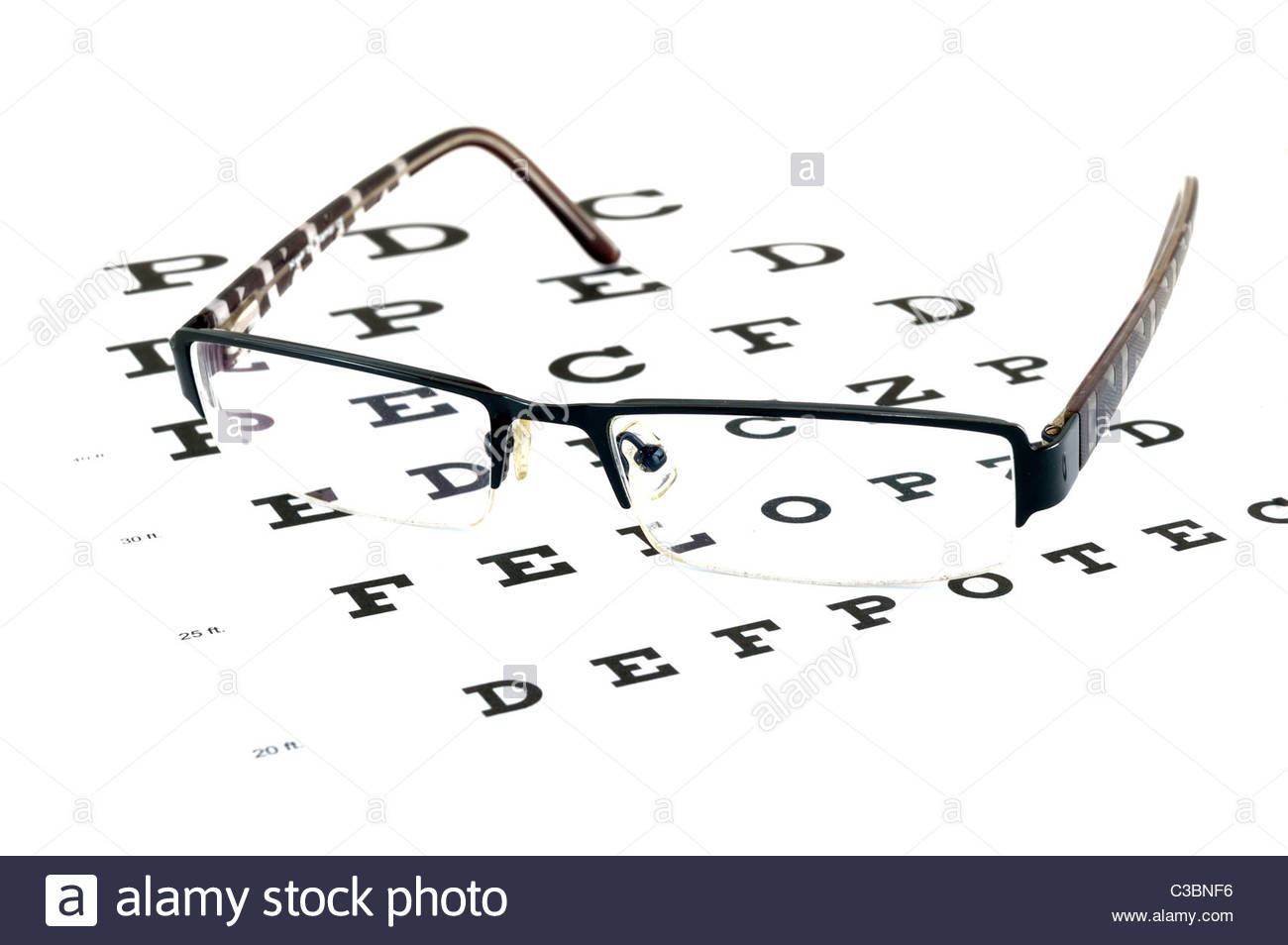 Eye sight test chart - Stock Image