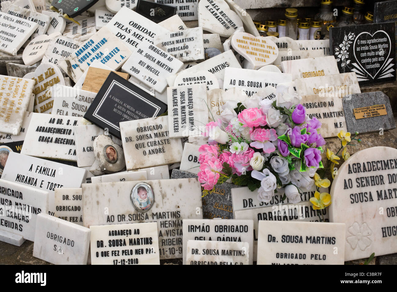 Shrine to Dr. Sousa Martins, miracle cure cult, Lisbon, Portugal - Stock Image