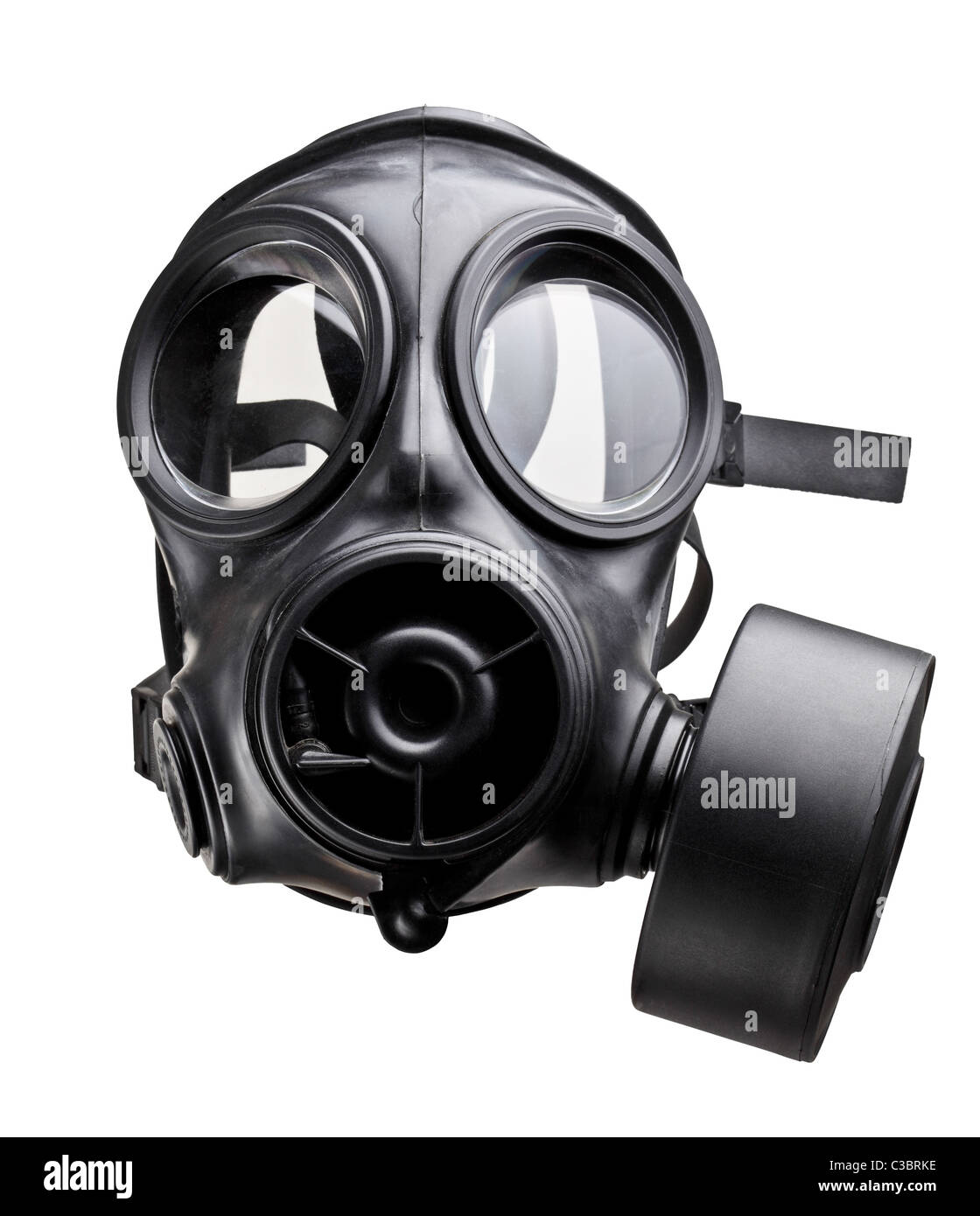 fine image of classic british army gas mask - Stock Image