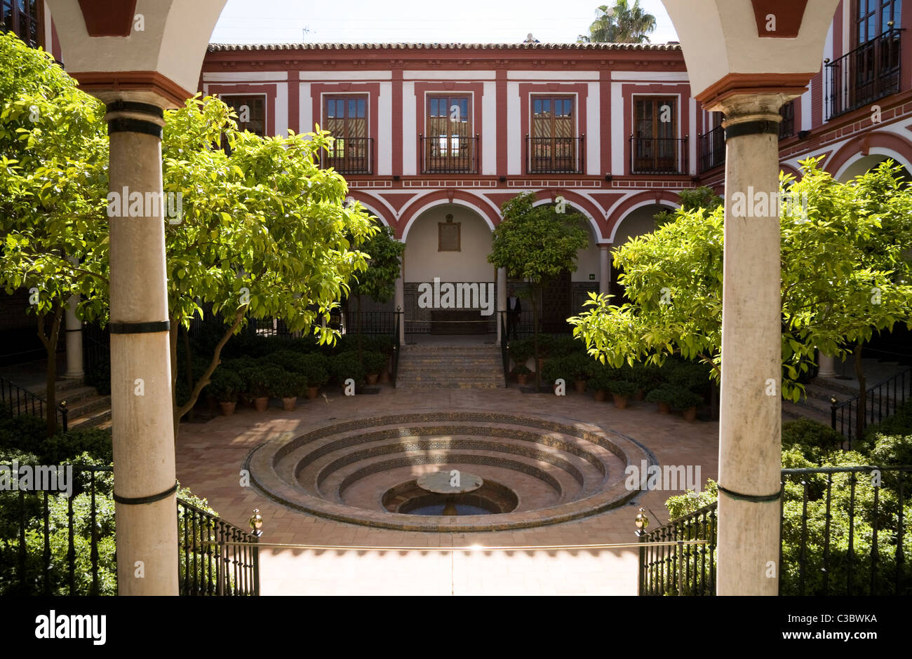 Beautiful Courtyard Garden, Terrace And Fountain Of