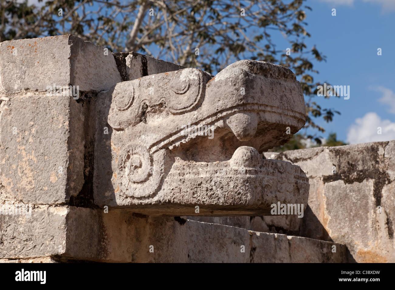 Chichen Itza: Maya Ruins: Decorations - Stock Image