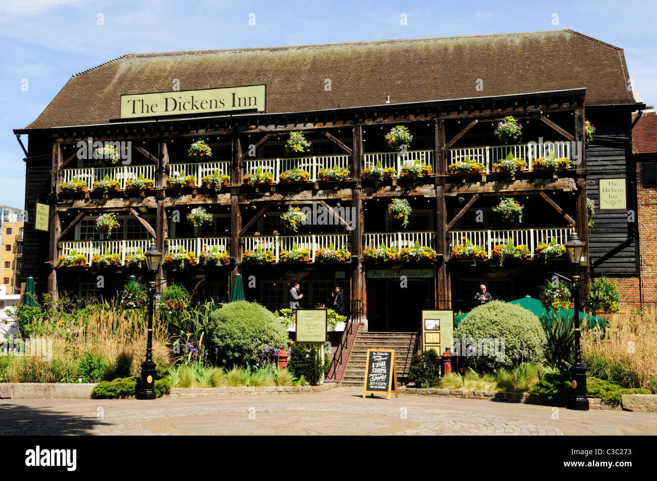 The Dickens Inn, St Katharine's Dock, London, England, UK - Stock Image