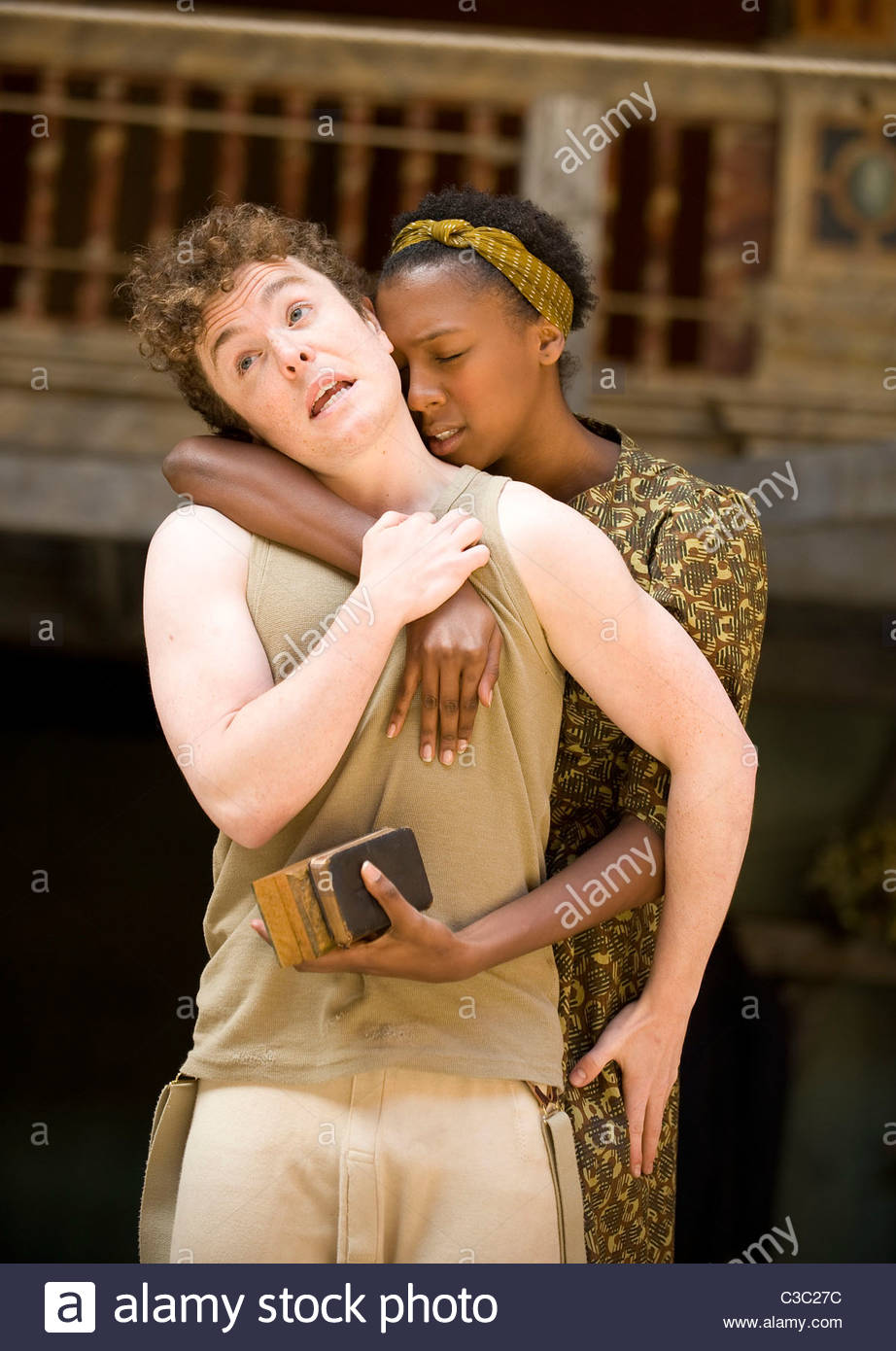 Hamlet by William Shakespeare.A Shakeapeare's Globe Touring Production directed by Dominic Dromgoole. - Stock Image
