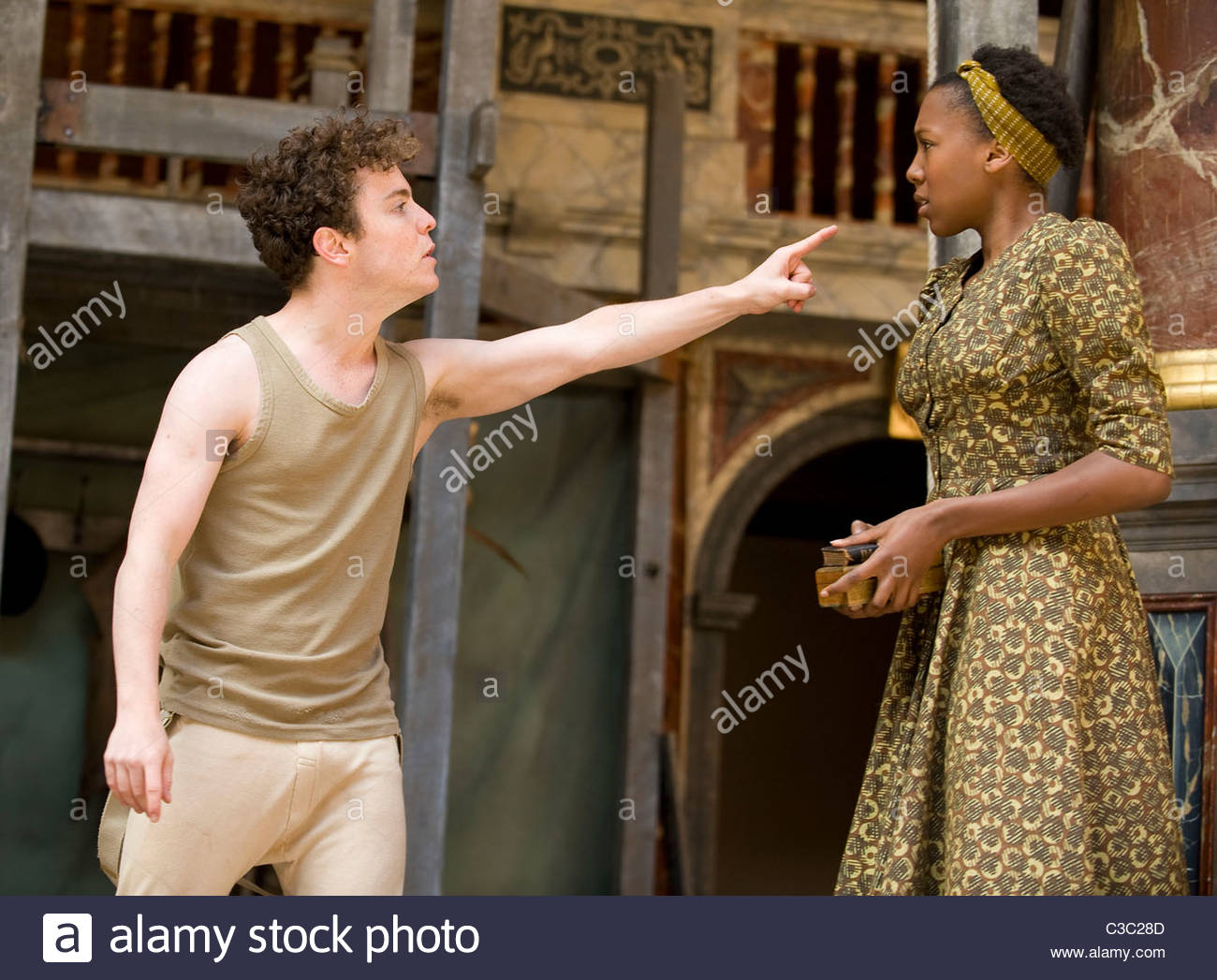 Hamlet by William Shakespeare.A Shakeapeare's Globe Touring Production directed by Dominic Dromgoole. Stock Photo