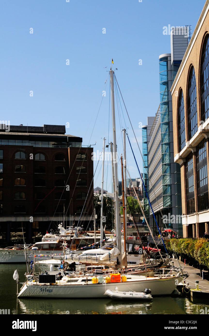 St Katharine's Docks, London, England, UK - Stock Image